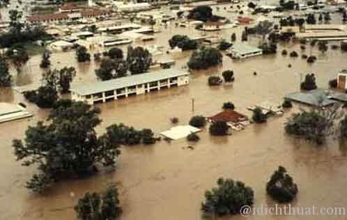To be flood = bị ngập lụt
