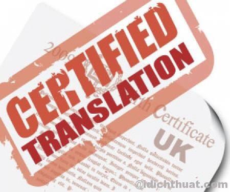 Chương trình chứng chỉ dịch thuật - Công Ty Dịch Thuật