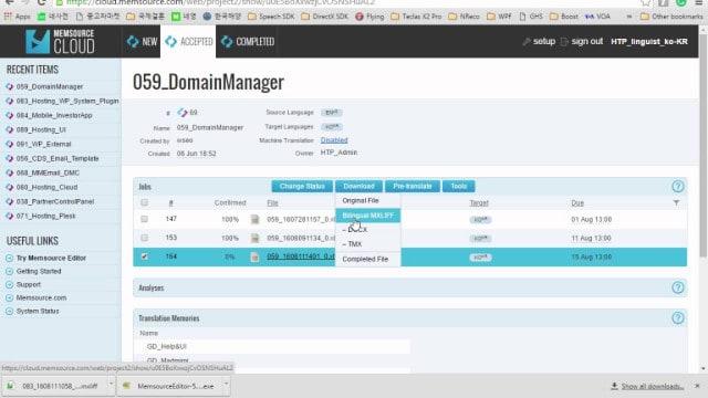 Memsource - Online Translation Tool