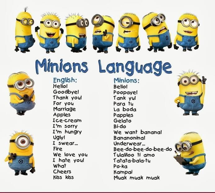 Ngôn ngữ Minion